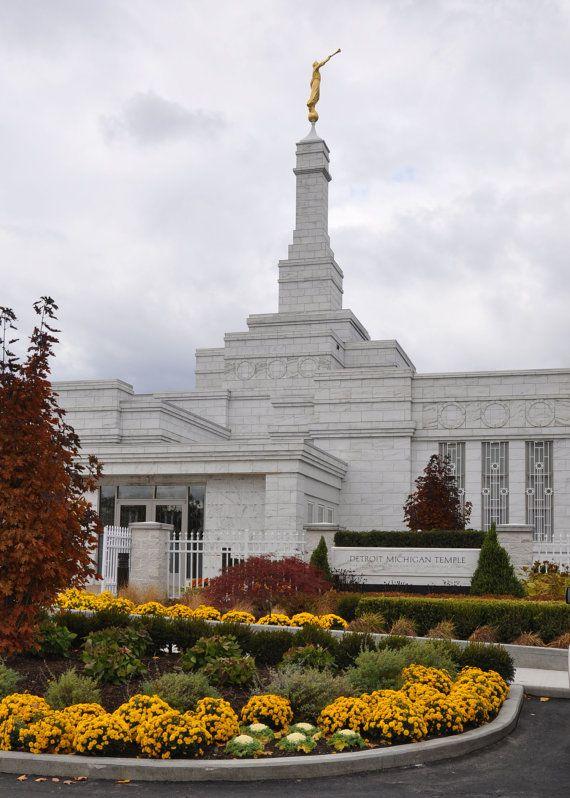5x7 Detroit Mi LDS Temple Fall Photo SALE 50 off by ...