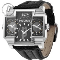 PL.13088JS/02 Police Gents Watch, Black Leather RRP £215.00 , Now £110.00 www.shushstore.com