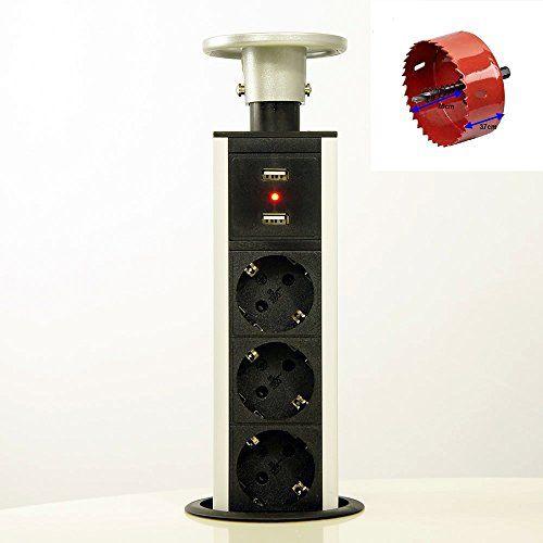 3 fach versenkbare Tisch-Steckdose Steckdosenleiste mit USB EL1803SU + Lochfräser HUX POWER http://www.amazon.de/dp/B00DVI5Q3Y/ref=cm_sw_r_pi_dp_lj9Jwb0D5F2SF