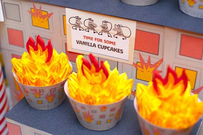 fireman_birthday_party_fire_truck_dessert_table_-_fire_house_cupcakes