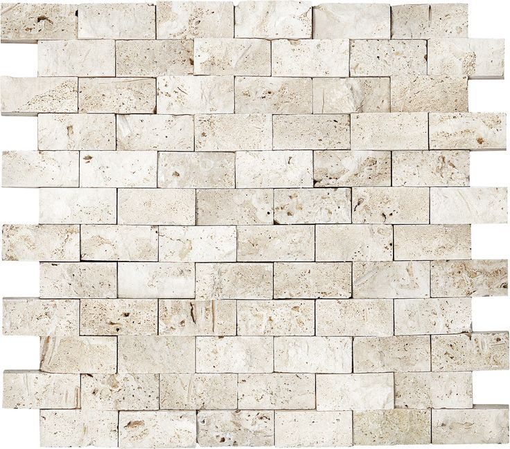 Kitchen Wall Tiles Ivory: Anatolia Tile Ivory Brick Mosaic Natural Stone Travertine