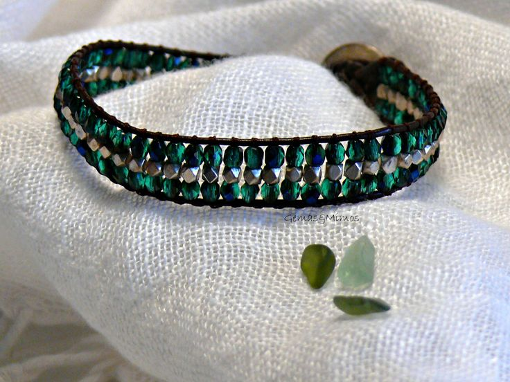 Cristal checo y baño de plata #jewelry #handmade #gemstones #joyeria #hechoamano #artesania #piedras #wraps #leather #cuero