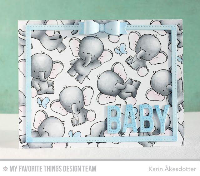 Adorable Elephants, Hip Clips, Stitched Alphabet - Karin Åkesdotter #mftstamps