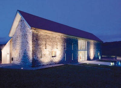 uplighting makes all the difference.  gorg barn conversion