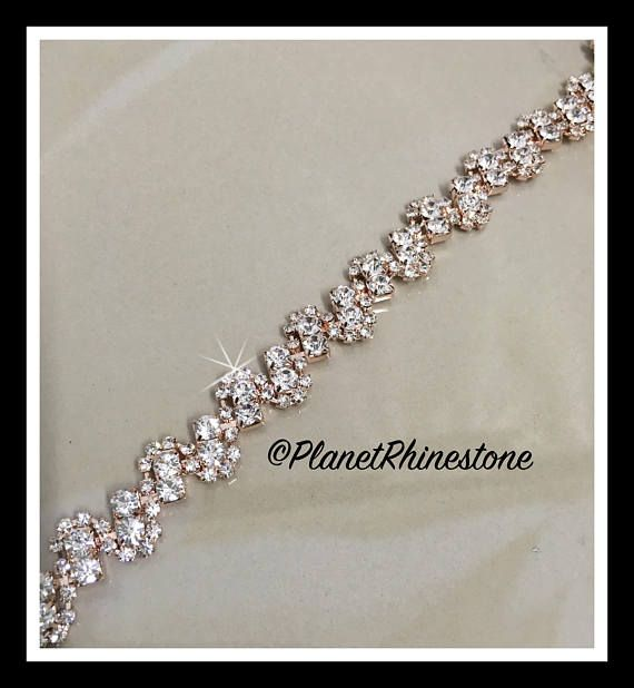 Hey, I found this really awesome Etsy listing at https://www.etsy.com/listing/522523942/1-yard-rhinestone-trim-silver-rose-gold