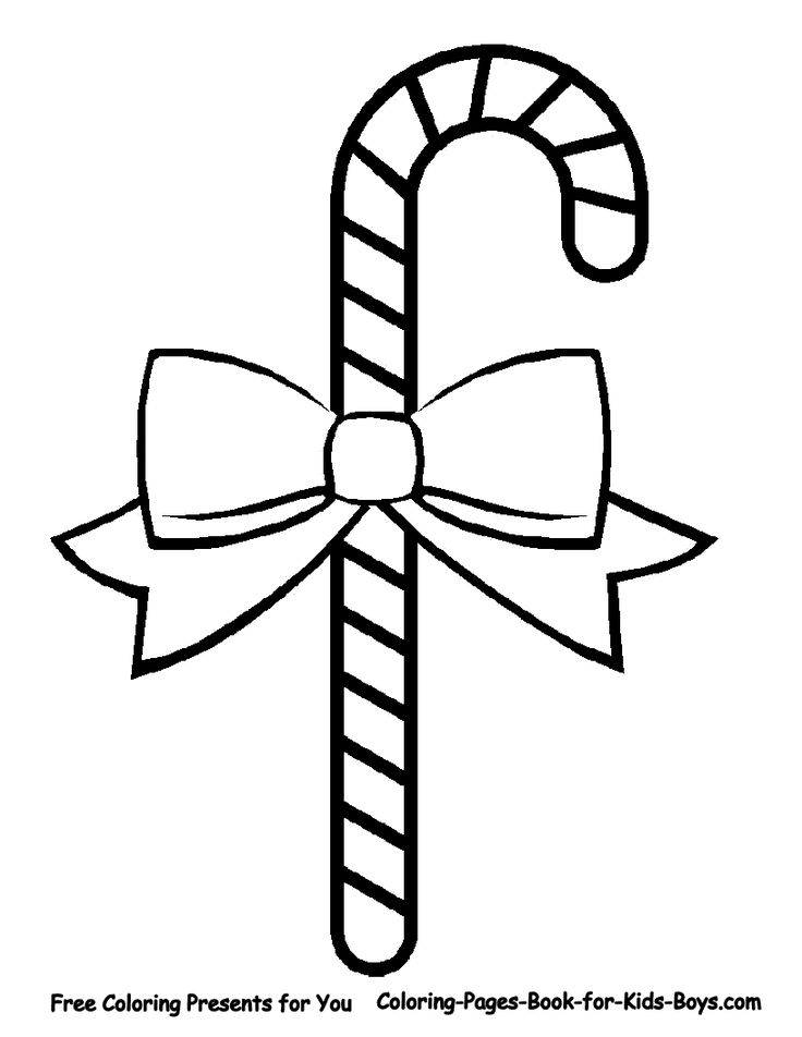 Candy Cane With A Bow