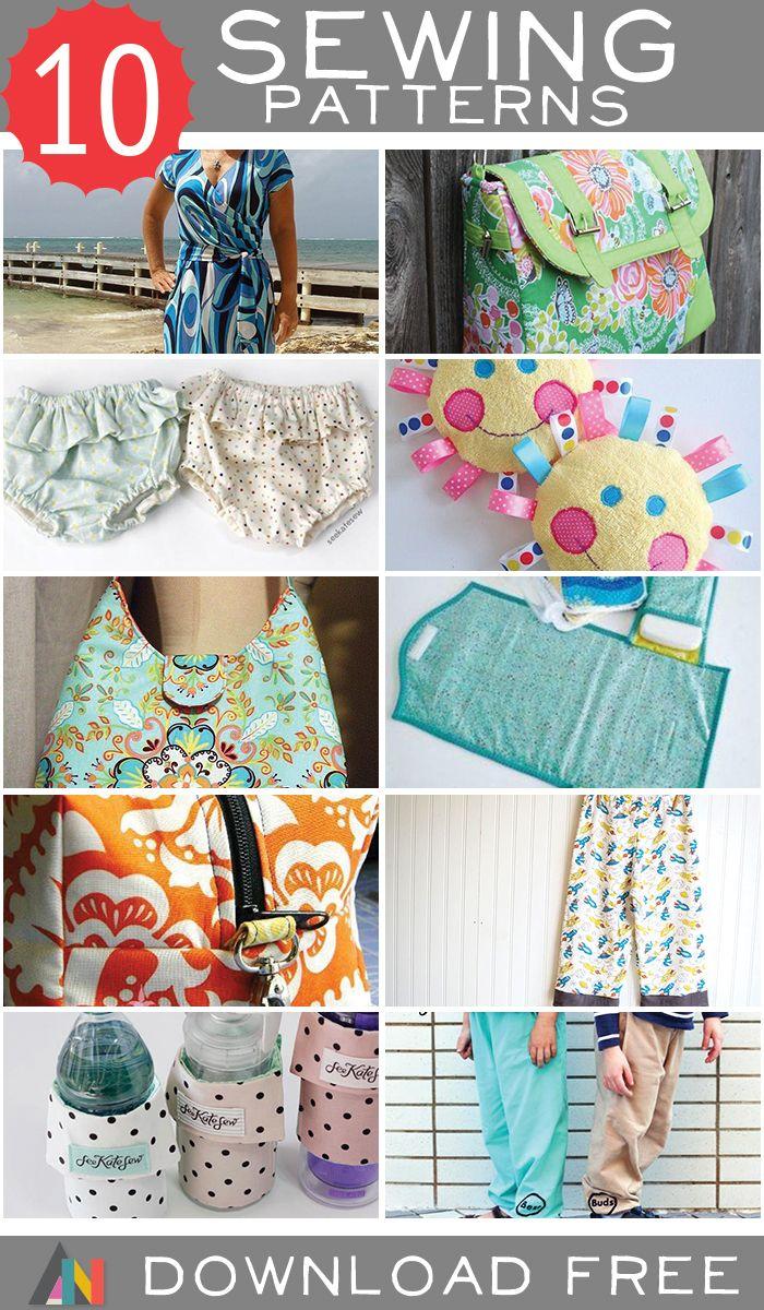 10 FREE sewing patterns!