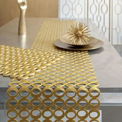 modern eclectic designer table runners | this gold runner will add glam in a second it s the perfect element to ...