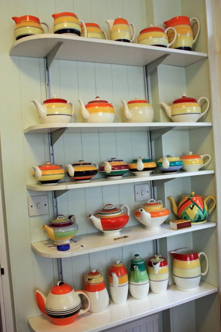 Susie Cooper teapots (collection of David Herbert)