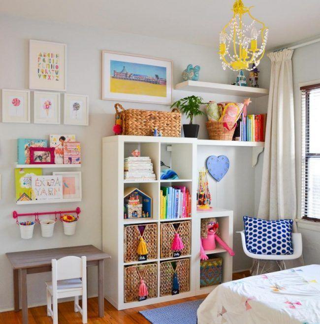 Ikea Shelves-Kallax Ideas Nursery in the Scandinavian style