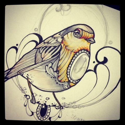 Miss Juliet...Tattoo,Draw and Life: Robin tattoo- pettirosso tattoo