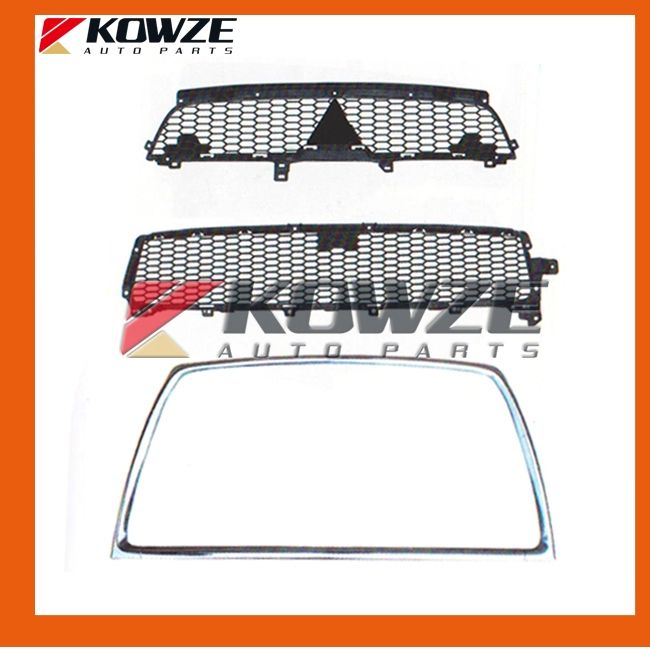 138.00$  Watch here - http://ali1mj.shopchina.info/go.php?t=32265467154 - Black Radiator Grille and Chrome Frame Stripe Front Mouth for Mitsubishi Outlander 2010  #aliexpress
