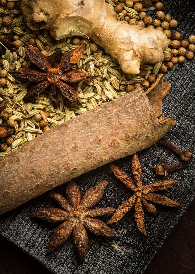 Phở Spices:  Star anise, Vietnamese cinnamon, cloves, cardamom pods, fennel seeds, and coriander seeds all contribute to the fragrancy and depth of flavor of phở (Vietnamese noodle soup).