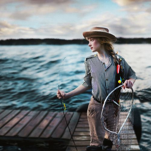 : Gone Fish, Women Fish, Colors Combos, Karrah Kobus, Karrahkobus, Fisher Of Men, Colors Palettes, Parks Ranger, Conceptual Photography