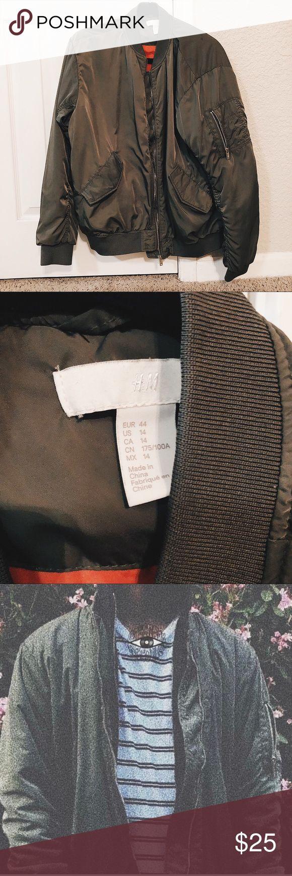 H&M Bomber Jacket Green bomber jacket, Bomber jacket