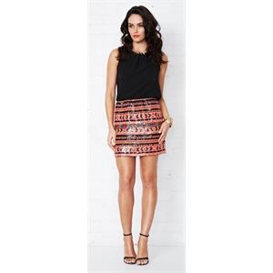 Electric Dip Aztec Sequin Dress by COOPER ST