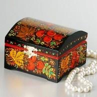 Khokhloma Jewelry Box from Russia