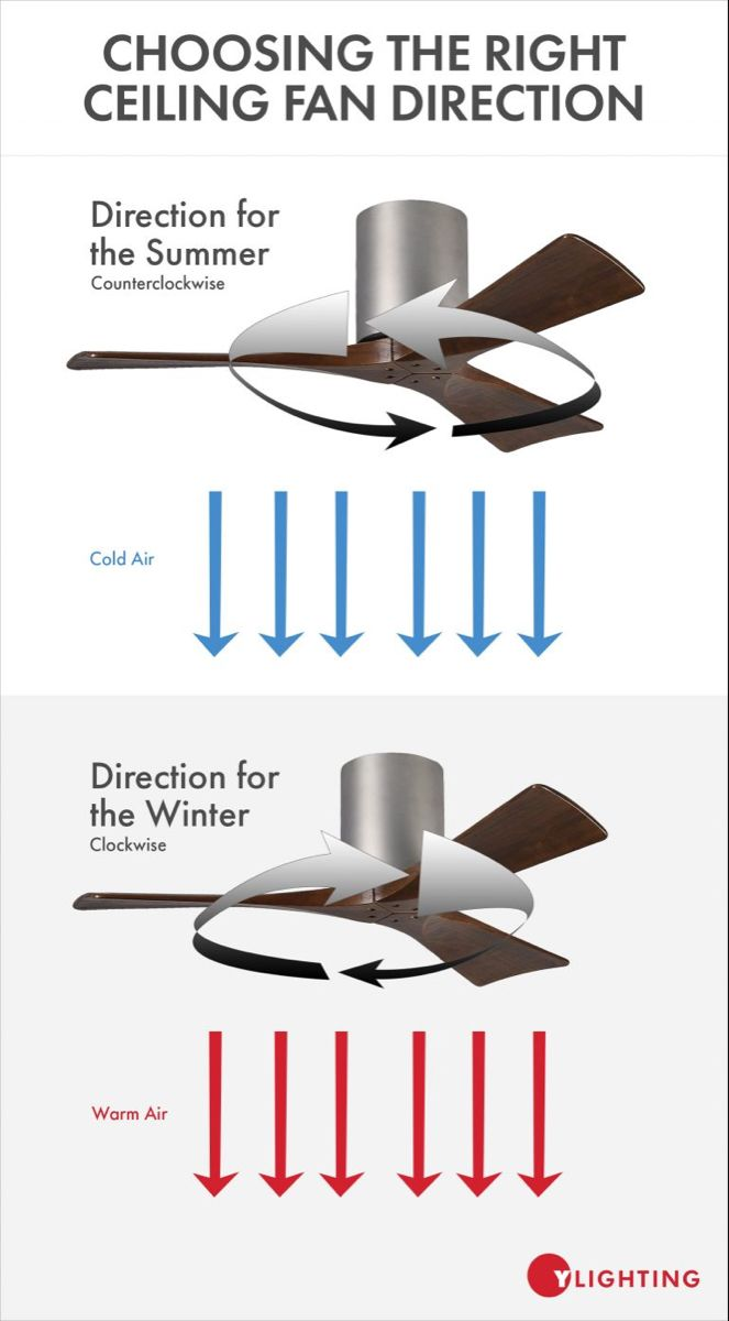 Choosing The Right Ceiling Fan Direction For Both Summer Winter