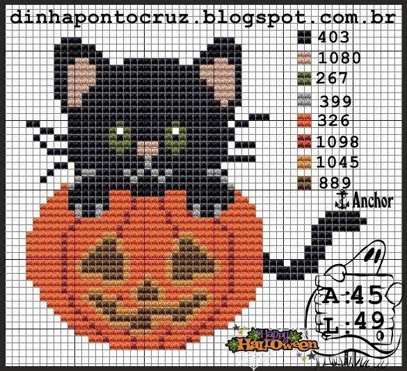 Dinha Ponto Cruz: Halloween ponto cruz-parte3