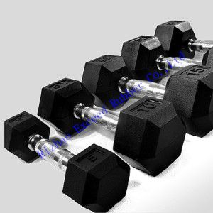 Fitness Equipment Gym Equipment of Rubber Hex Dumbbell pictures & photos