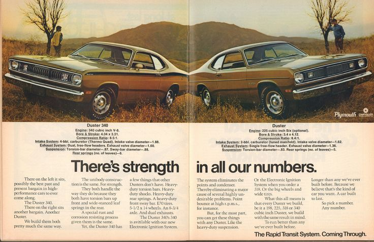 1972 Plymouth Duster 340 - Duster Advertisement Car Craft December 1971   by SenseiAlan