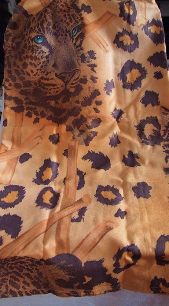 "Bathroom Sink Skirt KENYA Leopard Design Gold 54"" wide x 32"" length #PopularBath"