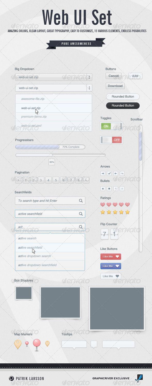 Web UI Set - #User #Interfaces Web Elements Download here: https://graphicriver.net/item/web-ui-set/470338?ref=alena994