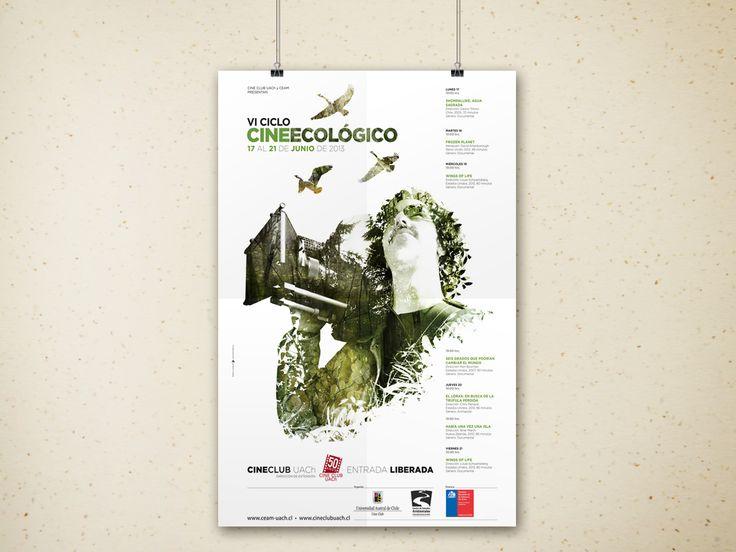 AFICHE VI CICLO DE CINE ECOLÓGICO. Cine Club Uach / CEAM