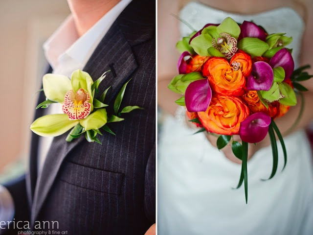 Disney Cruise Wedding - bouquet and boutonniere