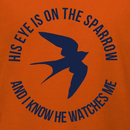 his eye is on the sparrow christian themed family reunion t shirt template personalize