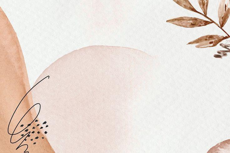 desktop aesthetic watercolor brown botanical