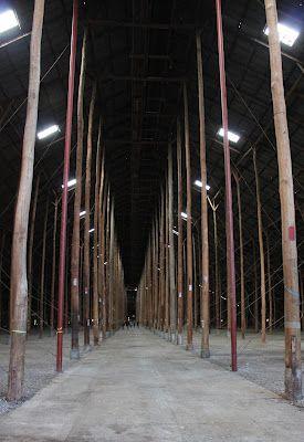 Stick shed interior
