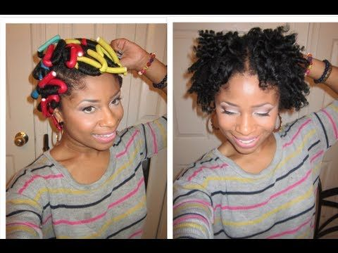 How To Do A Flexi Rod Set On Short Natural Hair Curly Inspirations