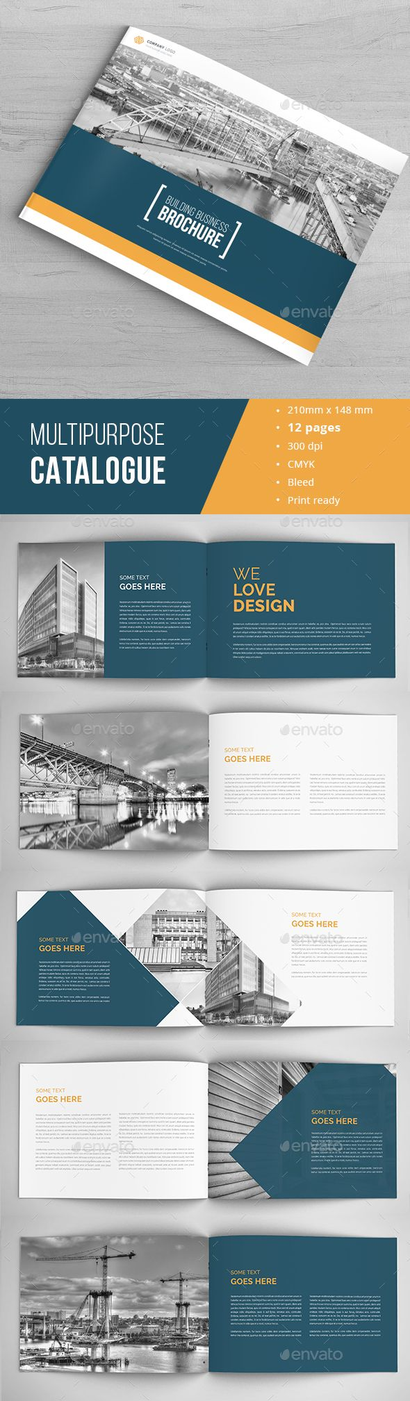Architecture Business Brochure Template InDesign INDD. Download here: http://graphicriver.net/item/architecture-business-brochure/16669726?ref=ksioks