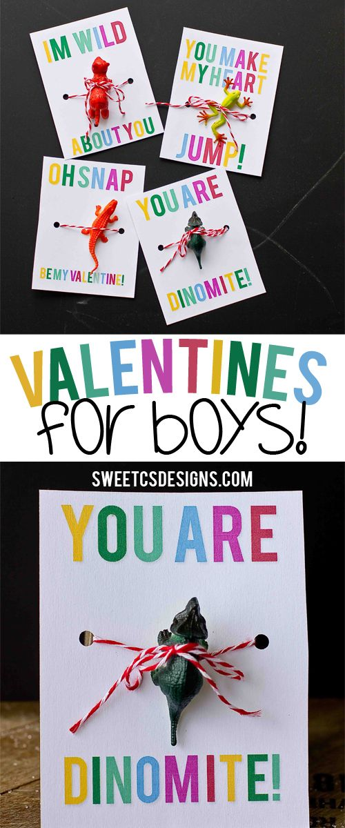 Valentines for boys- 4 awesome free printables! Just add a toy! #yearofcelebrations
