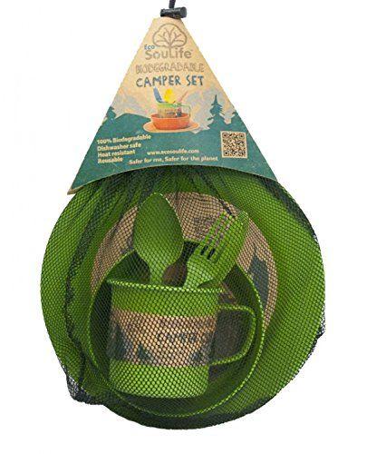 EcoSouLife Camper Set green Side Plate (S)