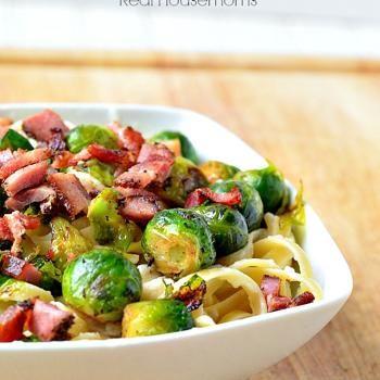 Fettuccine Cauli-Fredo with Brussels Sprouts & Bacon Recipe