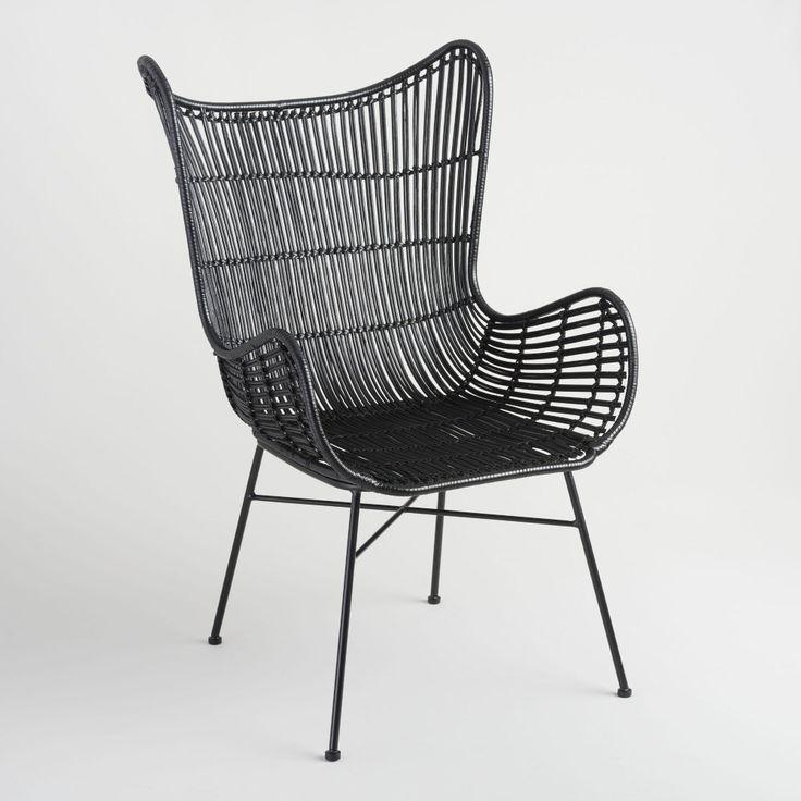 Black rattan willis wingback chair world market