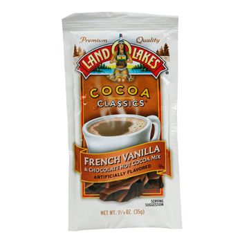 Land O Lakes Vanilla Hot Chocolate - I buy this in bulk every winter! SO GOOD! It makes Swiss Miss taste like water.