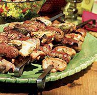 Tuscan Grilled Chicken, Sausage & Sage Skewers | Recipe