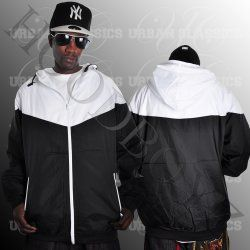 Urban Classics Arrow Letní černá bílá bunda