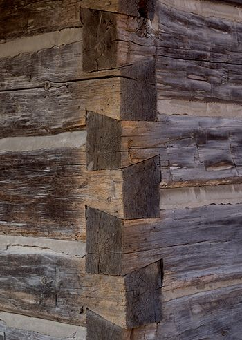Beautiful dovetail joint corner