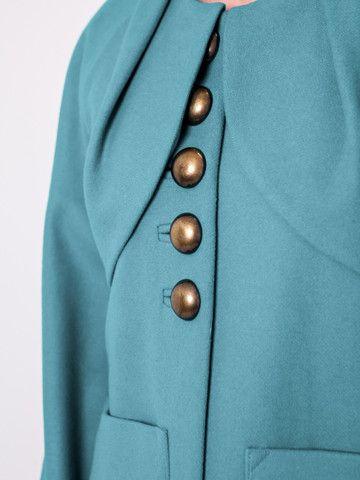 The Kensington - #detail #gehrich #melbournefashion #turquoise #buttons #silklining #womensfashion #thekensington