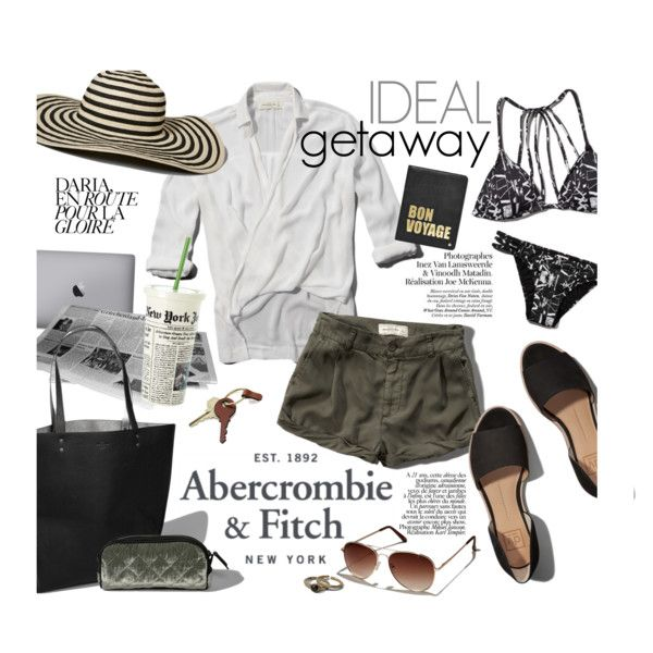 The A&F Summer Getaway Giveaway: Contest Entry by clovers-mind on Polyvore featuring Abercrombie & Fitch, Hayden-Harnett, Crate and Barrel and Kate Spade