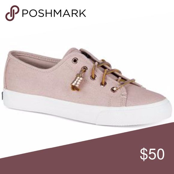 NIB Sperry Women's Seacoast Canvas Sneakers NIB Sperry Rose Colored Women's Seacoast Canvas Sneakers So stinking CUTE, CASUAL, and PREPPY! Round-toe, gold colored rawhide lacing Twill upper; rubber outsole Sperry Shoes Sneakers