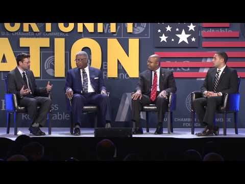Mayors Michael Nutter, William Bell, and Svante Myrick at the 2015 National Opportunity Summit - YouTube