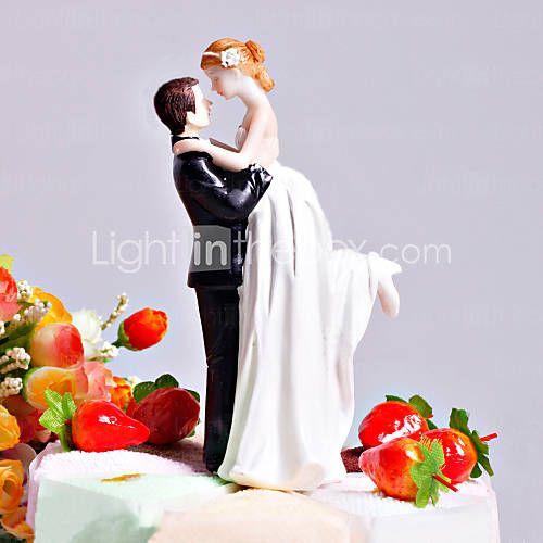 L'amour balayé jeune mariée et le marié de gâteau de mariage Topper - EUR € 9.99