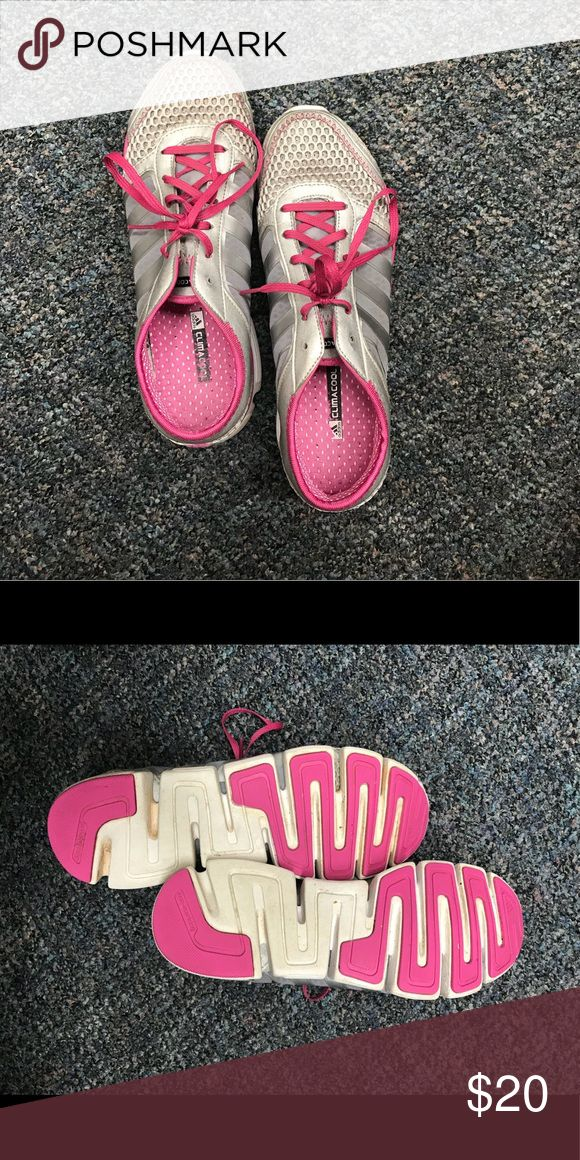 Adidas ClimaCool Shoes Good used condition Adidas ClimaCool tennis shoes - pink & white - still lots of life left in them! adidas Shoes Athletic Shoes