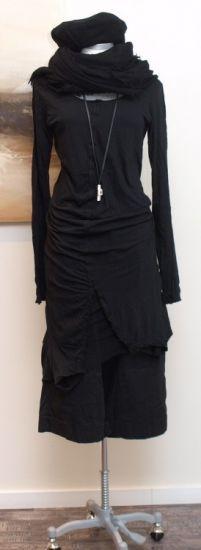 stilecht - mode für frauen mit format... - rundholz dip - Shirtkleid Double Tüll black - Winter 2014