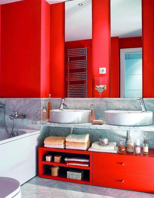 M s de 25 ideas incre bles sobre cuarto de ba o rojo en for Colores de marmol para banos